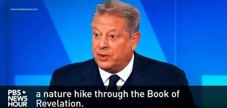 AL GORE COMPARES THE 'CLIMATE CHANGE' HOAX TO THE BOOK OF REVELATION     IN THE BIBLE