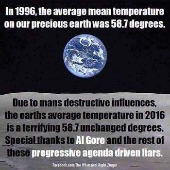 Global Warming Hysteria Destroyed By Meme with ONE Number